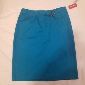 Rafaella Pencil Skirt Size 12 Turquoise NWT
